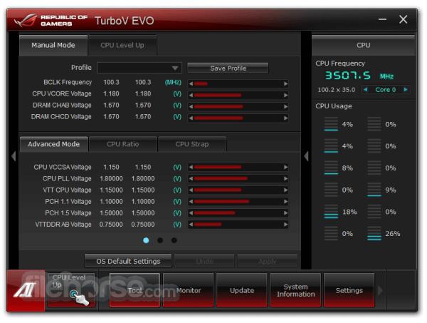 ASUS TurboV EVO 1.02.34 Screenshot 1