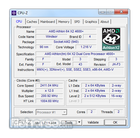 CPU-Z 1.82.1 Screenshot 1