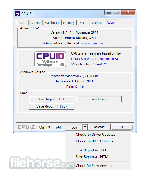CPU-Z 1.82.1 Screenshot 5