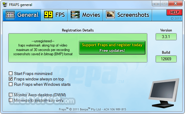 Fraps 3.5.99 Screenshot 1
