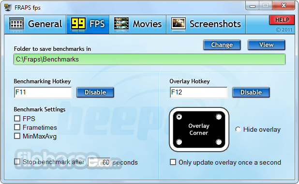 Fraps 3.5.99 Screenshot 2