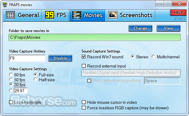 Fraps 3.5.99 Screenshot 3