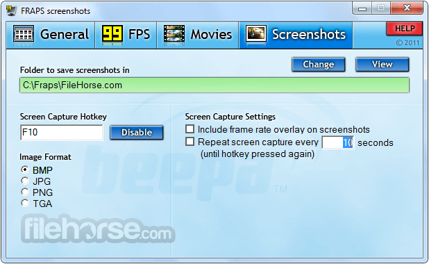Fraps 3.5.99 Screenshot 4