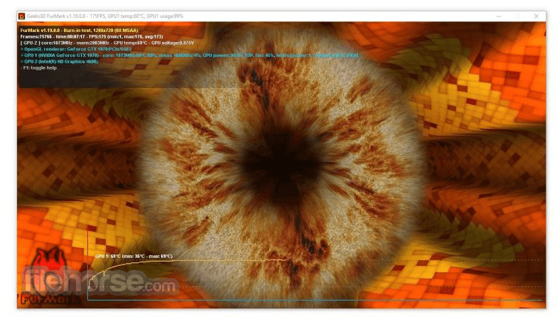 FurMark 1.21.1.0 Screenshot 1