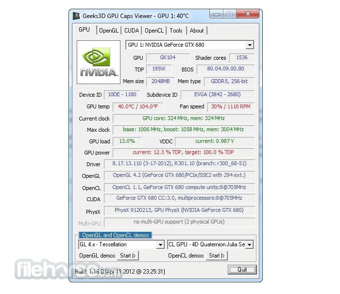GPU Caps Viewer 1.52.0 Screenshot 1