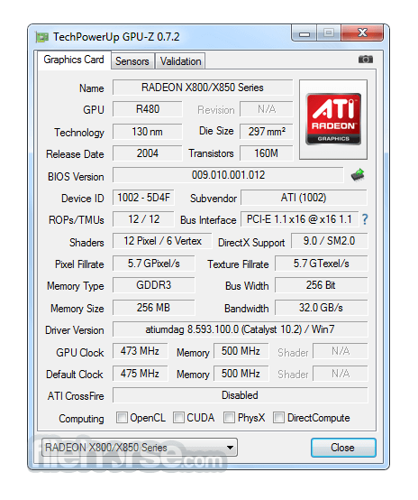 GPU-Z 2.10.0 Captura de Pantalla 1