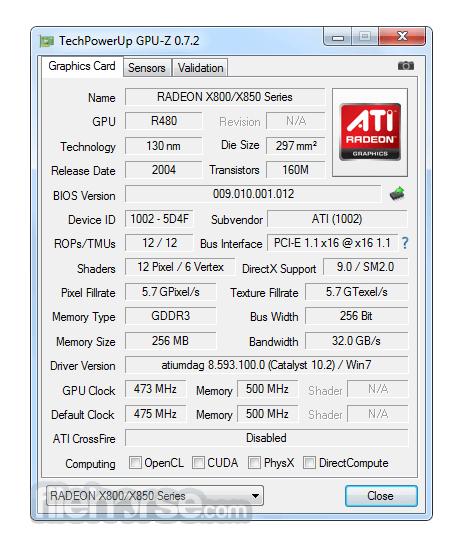 GPU-Z 2.6.0 Screenshot 1