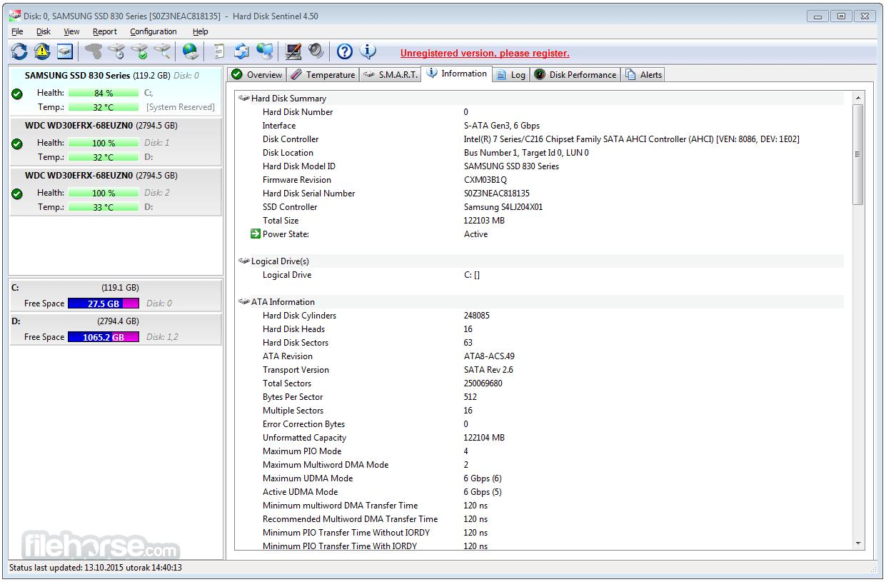 Hard Disk Sentinel 5.01 Screenshot 4