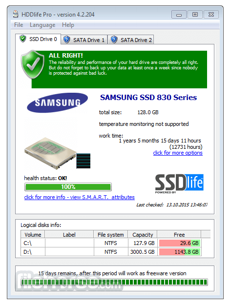 HDDLife Pro 4.2.204 Screenshot 1