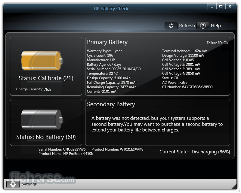HP Battery Check 4.1.0.2 Screenshot 2