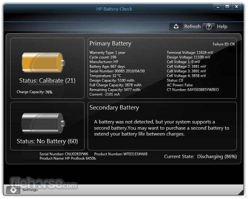 HP Battery Check 4.1.0.2 Captura de Pantalla 2