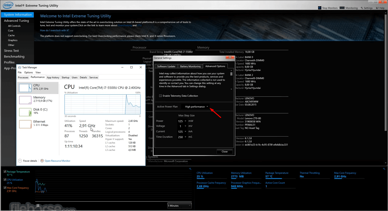 Intel Extreme Tuning Utility 6.4.1.15 Screenshot 3