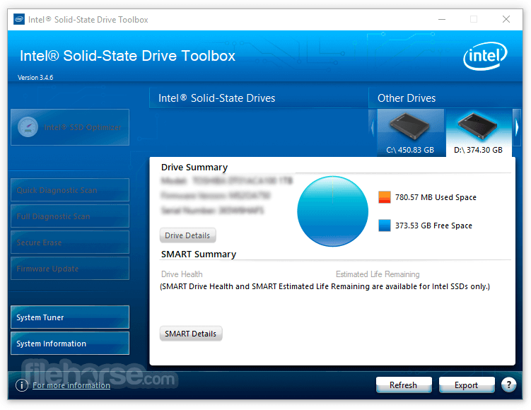 Intel Solid-State Drive Toolbox 3.5.6 Screenshot 1