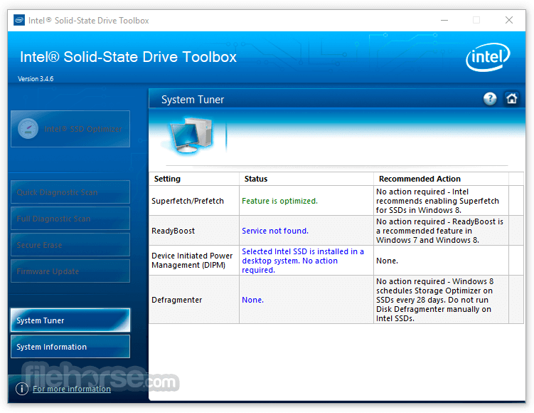 Intel Solid-State Drive Toolbox 3.5.6 Screenshot 2