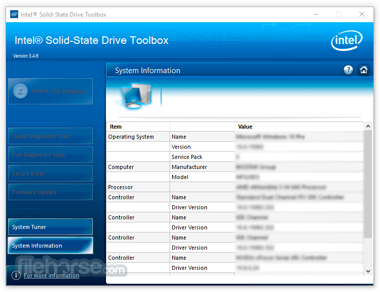 Intel Solid-State Drive Toolbox 3.5.6 Screenshot 3