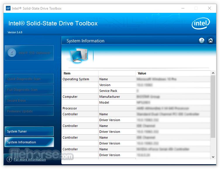 Intel Solid-State Drive Toolbox 3.4.9 Captura de Pantalla 3