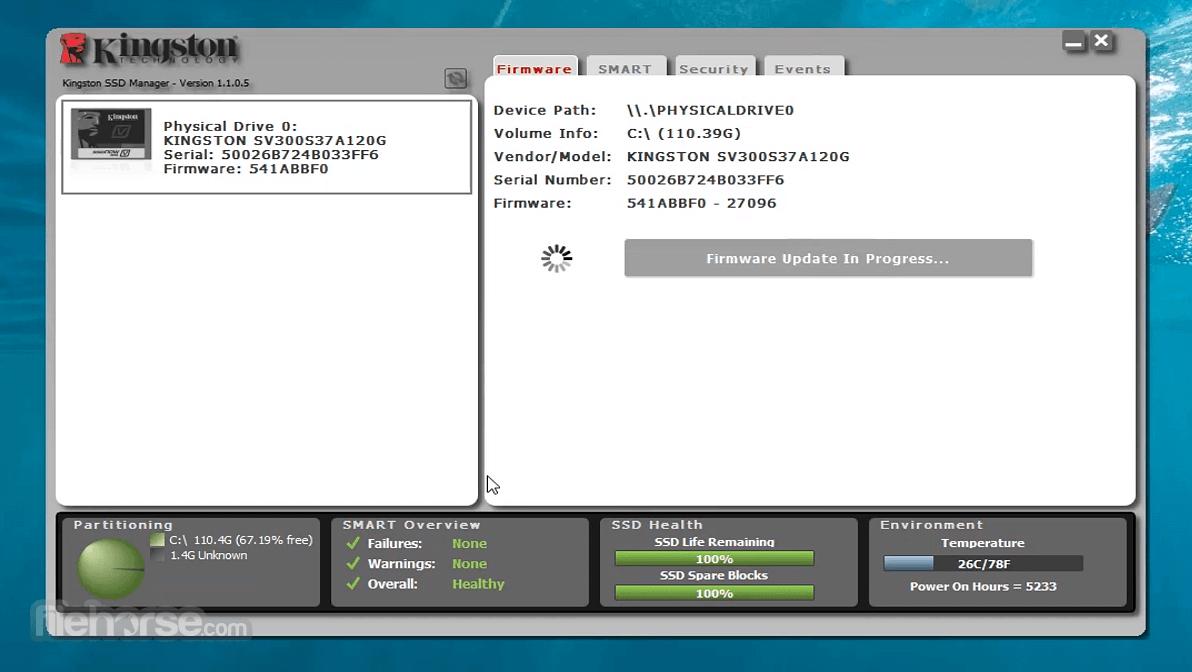Kingston SSD Manager 1.1.2.6 Screenshot 1