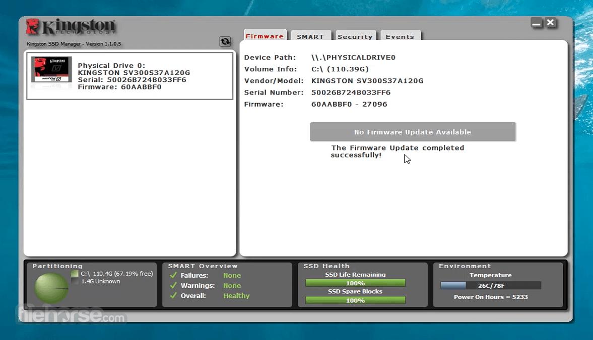 Kingston SSD Manager 1.1.2.6 Screenshot 2