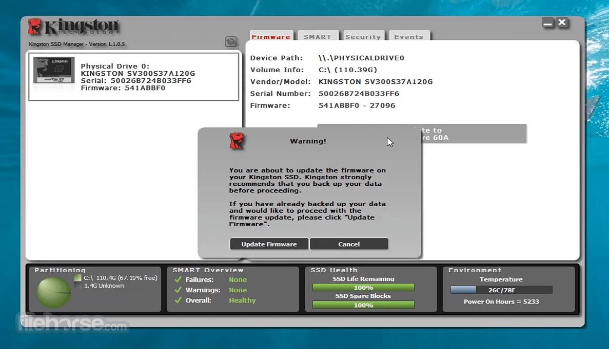 Kingston SSD Manager 1.1.2.6 Screenshot 3