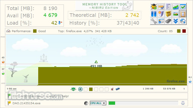 Memory History Tool 2.7.2.6 Screenshot 1