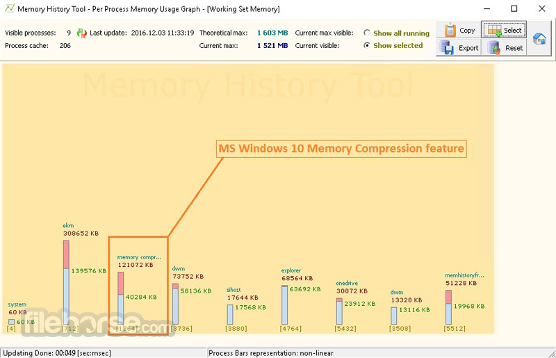 Memory History Tool 2.7.2.6 Screenshot 4