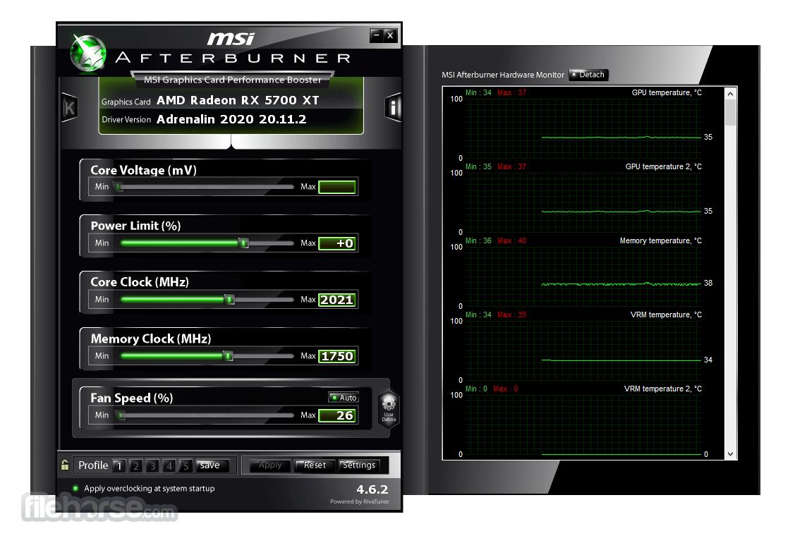 MSI Afterburner 4.4.2 Screenshot 2