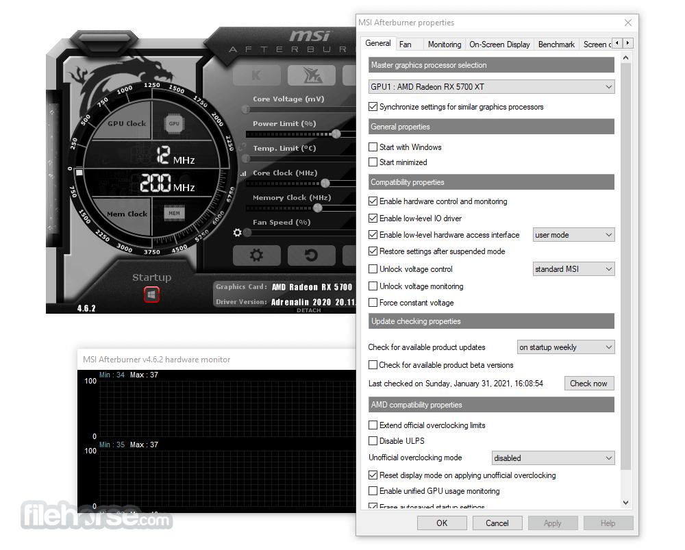 MSI Afterburner 4.6.2 Screenshot 5
