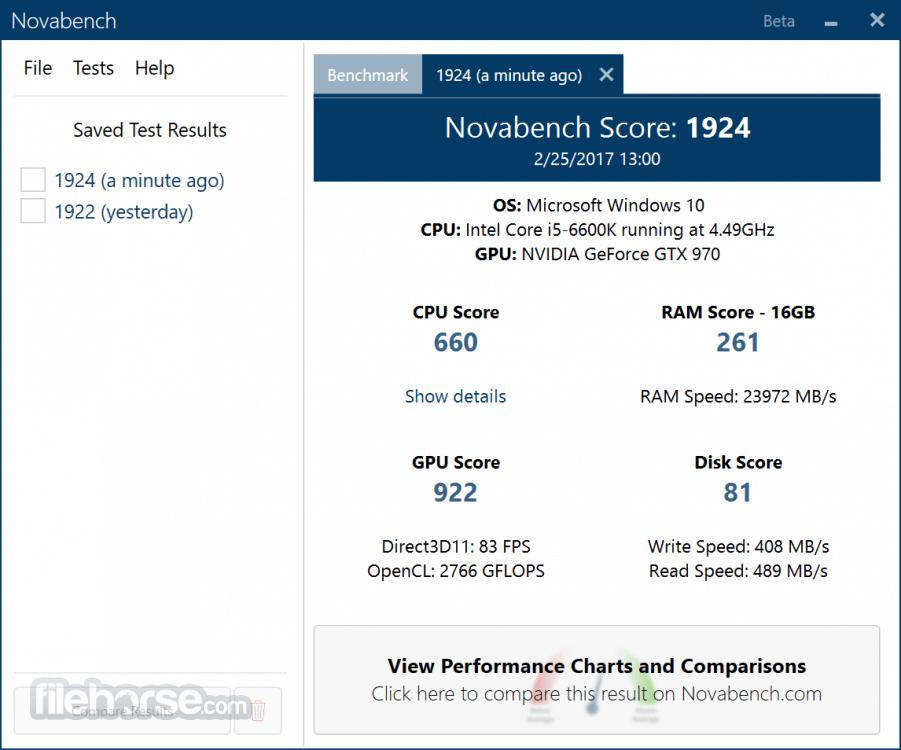 NovaBench 4.0.5 Screenshot 2