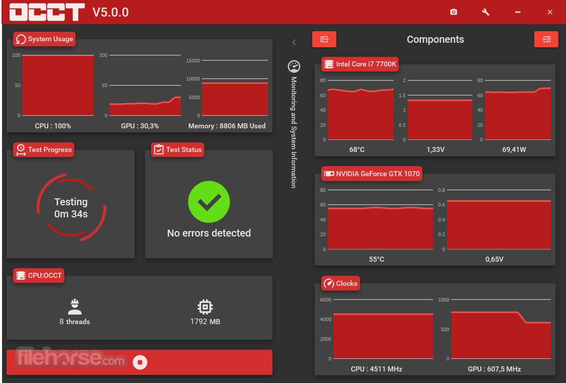 OCCT 8.1.3 Screenshot 4