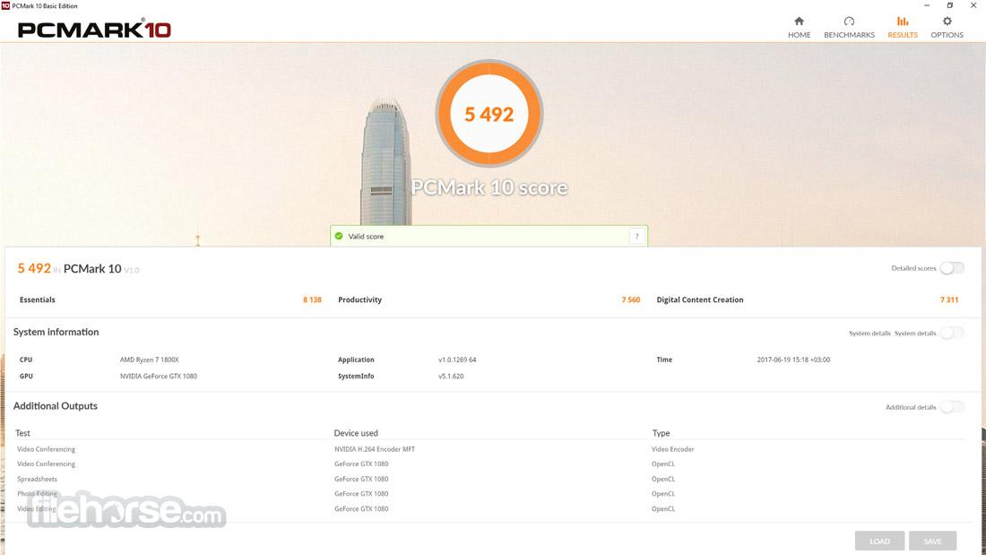 PCMark 10 1.1.1739 Screenshot 5
