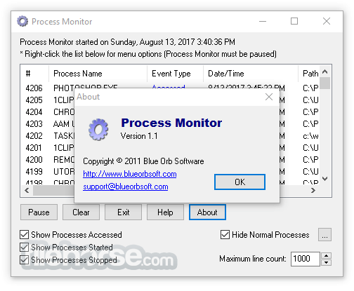 Process Monitor 3.50 Captura de Pantalla 3