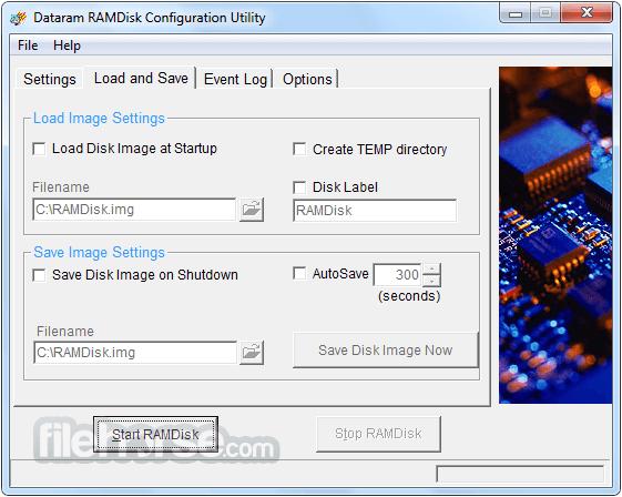 RAMDisk 4.4.0 RC 36 Screenshot 2