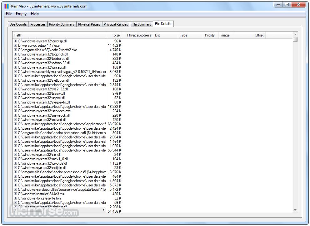 RAMMap 1.50 Captura de Pantalla 5