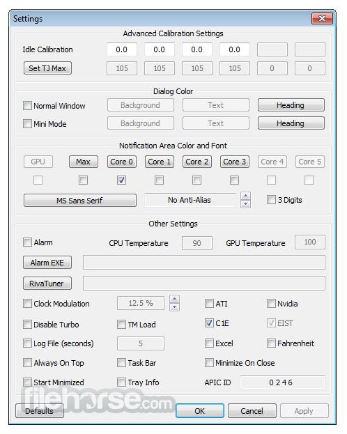 Real Temp 3.70 Screenshot 3