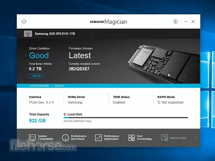 Samsung Magician 5.2.0 Screenshot 4