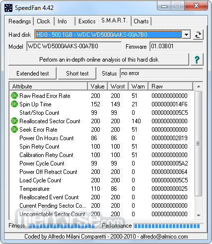 SpeedFan 4.52 Screenshot 4