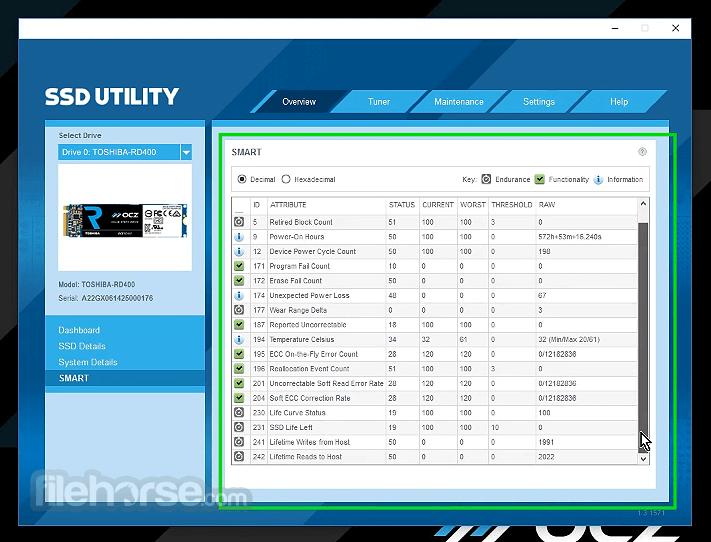 Toshiba OCZ SSD Utility 3 2 3303 Download for Windows