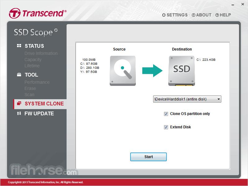 Transcend SSD Scope 4.5 Screenshot 3