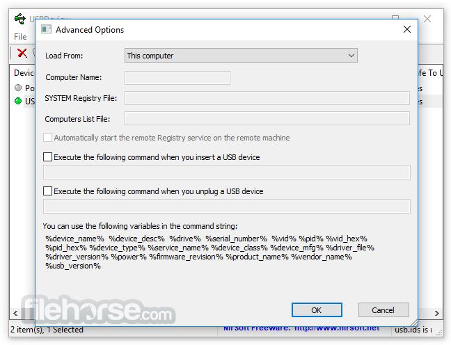 USBDeview 2.75 (32-bit) Captura de Pantalla 2