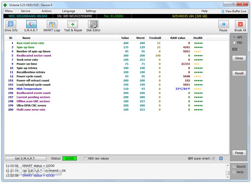 Victoria 5.36 Screenshot 2