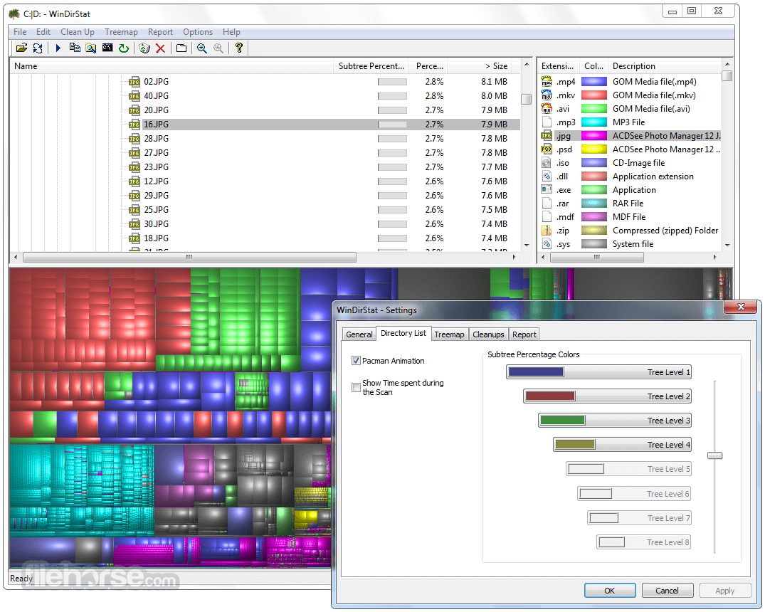 WinDirStat 1.1.2 Screenshot 3