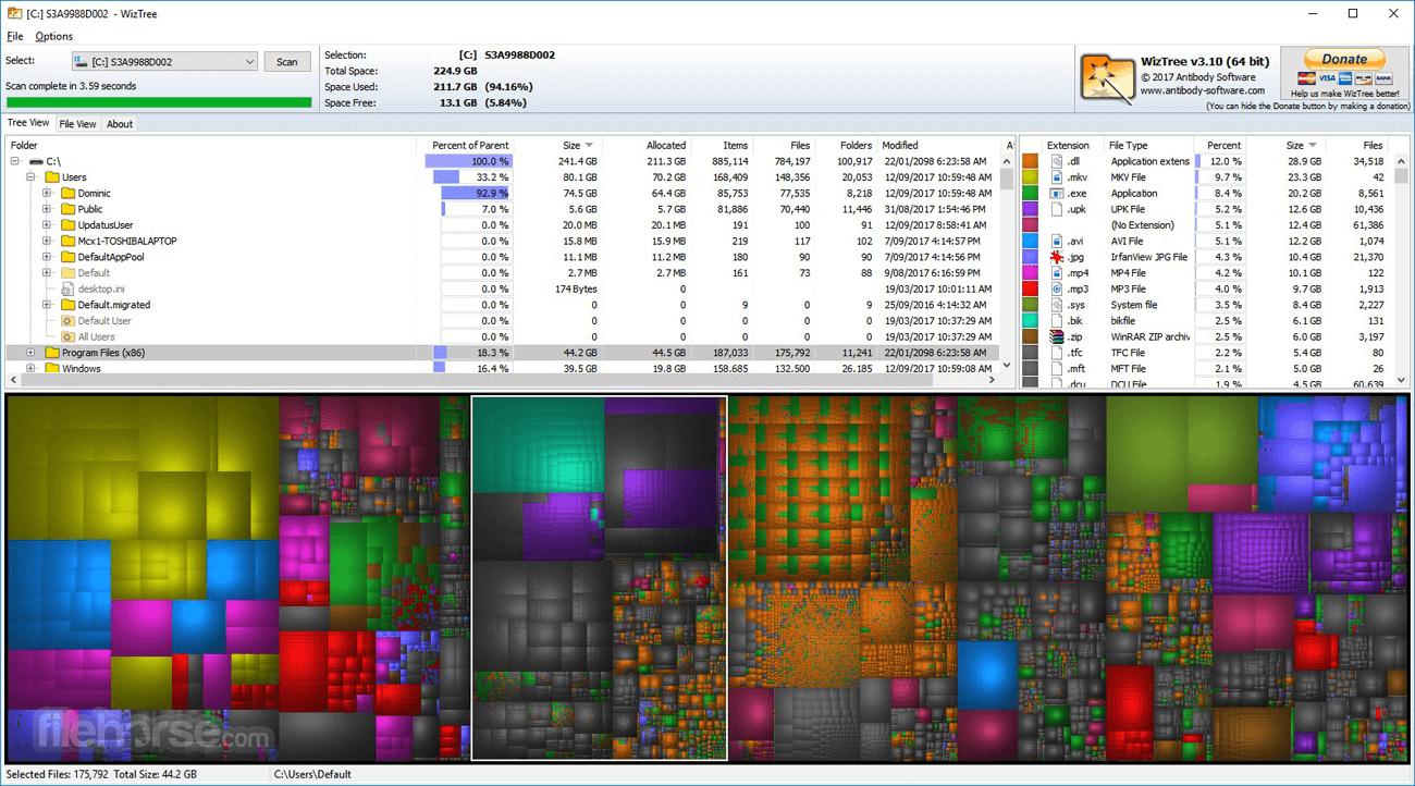 WizTree 3.37 Screenshot 1