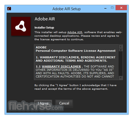 Adobe AIR 30.0.0.107 Screenshot 1