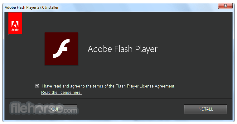 Flash Player 28.0.0.137 (IE) Captura de Pantalla 1