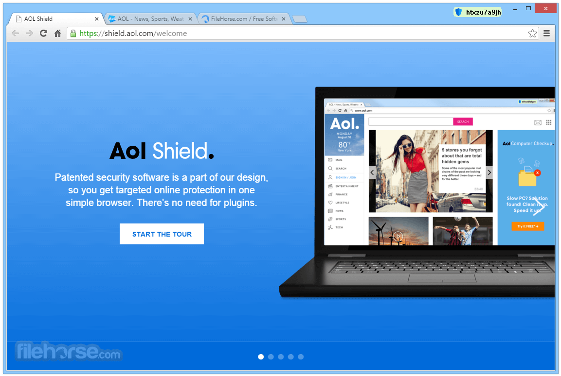 AOL Shield Browser 60.0.2879.0 Screenshot 1