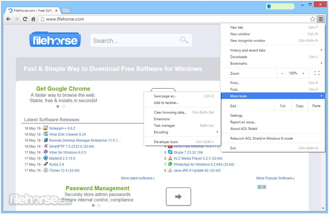 AOL Shield Browser 60.0.2879.0 Screenshot 4