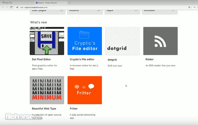 Beaker Browser 0.8.10 Screenshot 2
