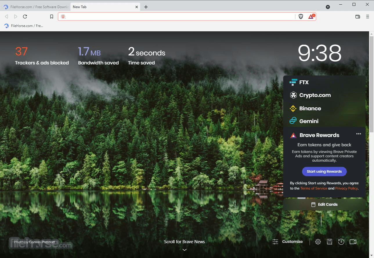 Brave Browser 0.15.2 Dev (32-bit) Captura de Pantalla 1
