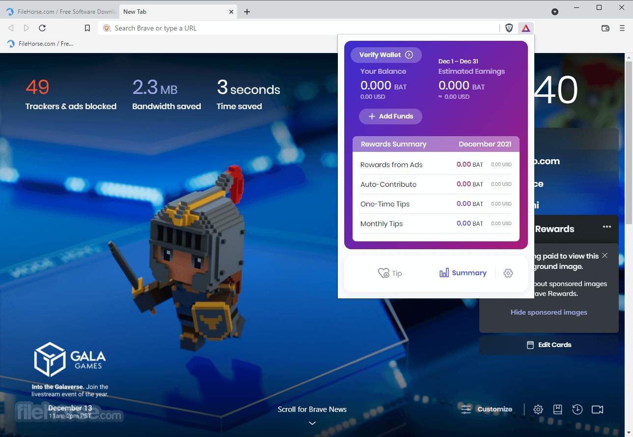 Brave Browser 0.22.13 Dev (64-bit) Captura de Pantalla 3