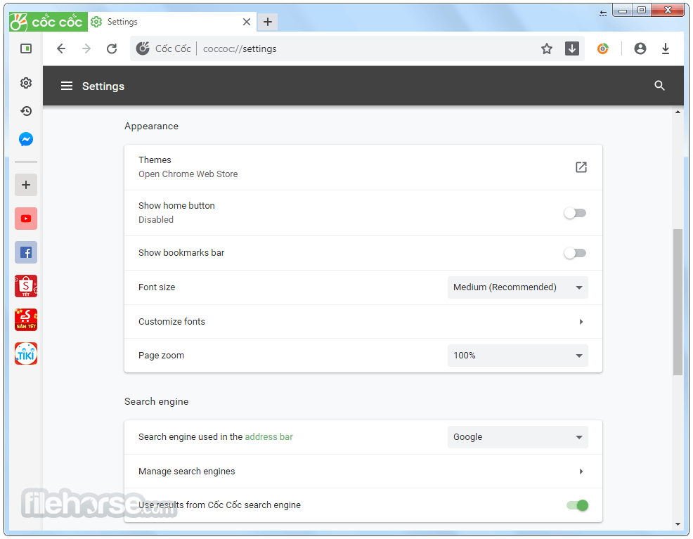 Coc Coc 93.0.148 Screenshot 4